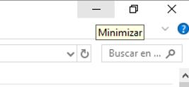 Opción de minimizar